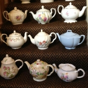 Lots of Vintage Teapots